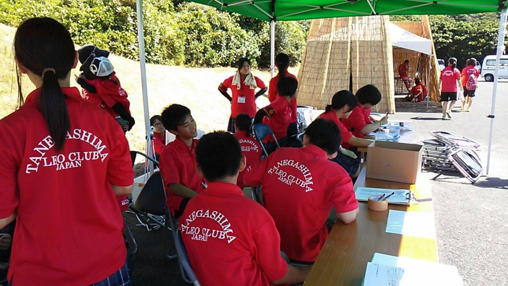 種子島サンセット車いすマラソン大会の受付ボランティア(公式facebookページより)